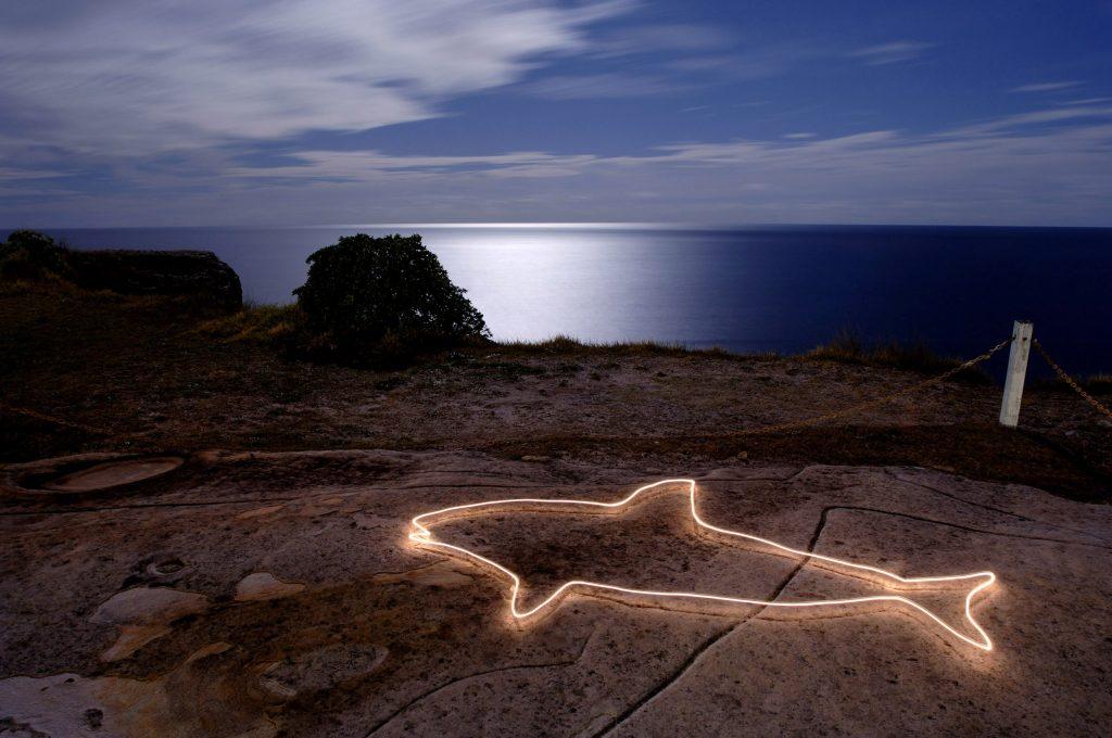 Aboriginal Engraving, Customs House, Moonlight, Maglight
