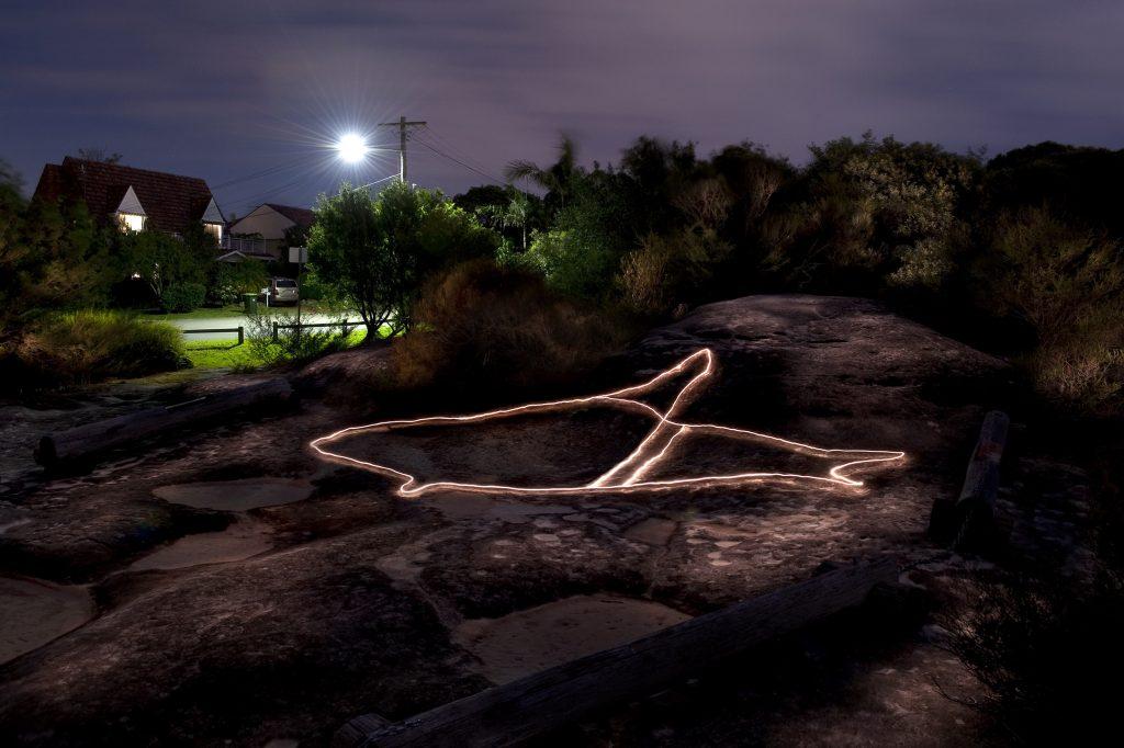 Aboriginal Engraving Series #9, Gumbooya Reserve, Allambie Heights 2011