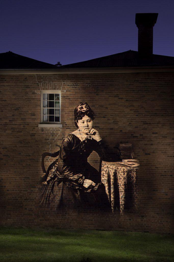 Miss Elizabeth Richards on the Hosies Store wall