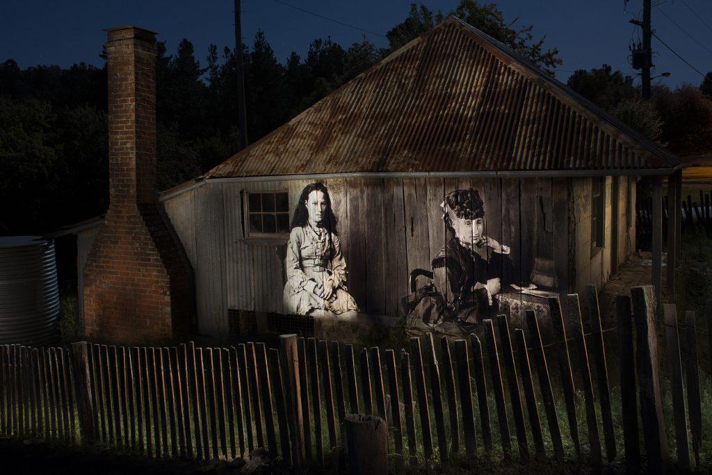 Miss Elizabeth Gard (left) Miss Merlin (right) at Beyers Cottage